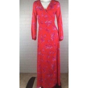 Gianni Bini Floor-Length Wrap Dress